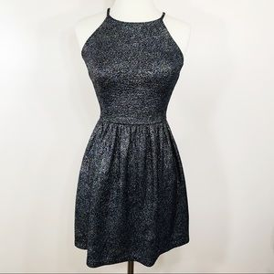 Aqua Bloomingdales Metallic Sparkle Skater Dress
